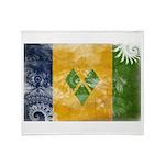 Saint Vincent Flag Throw Blanket