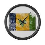 Saint Vincent Flag Large Wall Clock