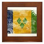 Saint Vincent Flag Framed Tile