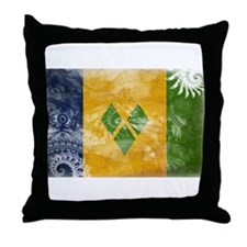 Saint Vincent Flag Throw Pillow