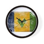 Saint Vincent Flag Wall Clock