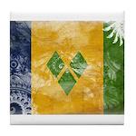 Saint Vincent Flag Tile Coaster