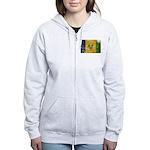 Saint Vincent Flag Women's Zip Hoodie