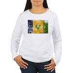 Saint Vincent Flag Women's Long Sleeve T-Shirt