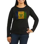 Saint Vincent Flag Women's Long Sleeve Dark T-Shir