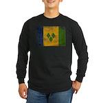 Saint Vincent Flag Long Sleeve Dark T-Shirt
