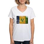 Saint Vincent Flag Women's V-Neck T-Shirt