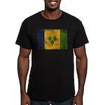 Saint Vincent Flag Men's Fitted T-Shirt (dark)