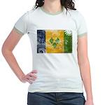 Saint Vincent Flag Jr. Ringer T-Shirt
