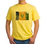 Saint Vincent Flag Yellow T-Shirt
