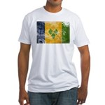 Saint Vincent Flag Fitted T-Shirt