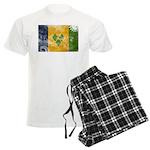 Saint Vincent Flag Men's Light Pajamas