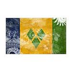 Saint Vincent Flag 38.5 x 24.5 Wall Peel