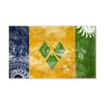 Saint Vincent Flag 22x14 Wall Peel