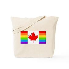 Canadian Gay Pride Flag Tote Bag