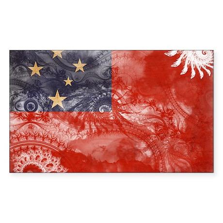 Samoa Flag Sticker (Rectangle)