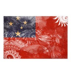 Samoa Flag Postcards (Package of 8)