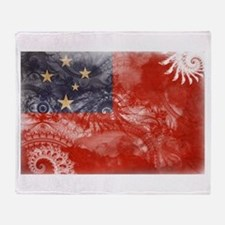 Samoa Flag Throw Blanket