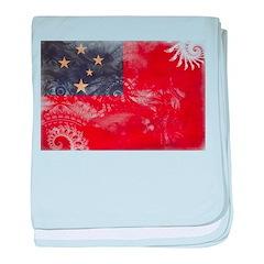 Samoa Flag baby blanket