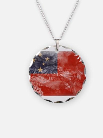 Samoa Flag Necklace