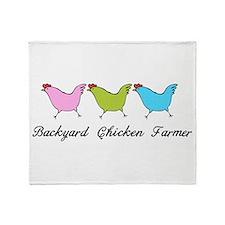 Backyard Chicken Farmer Throw Blanket