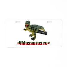 Dildosaurus Rex Aluminum License Plate