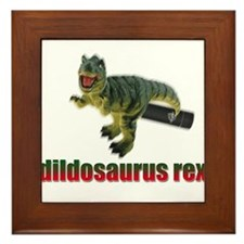 Dildosaurus Rex Framed Tile