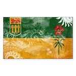 Saskatchewan Flag Sticker (Rectangle 10 pk)