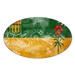 Saskatchewan Flag Sticker (Oval 50 pk)