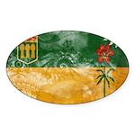 Saskatchewan Flag Sticker (Oval)