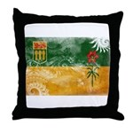 Saskatchewan Flag Throw Pillow