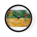 Saskatchewan Flag Wall Clock