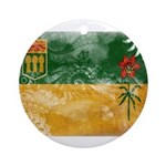 Saskatchewan Flag Ornament (Round)