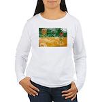 Saskatchewan Flag Women's Long Sleeve T-Shirt