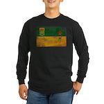 Saskatchewan Flag Long Sleeve Dark T-Shirt