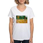 Saskatchewan Flag Women's V-Neck T-Shirt