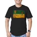 Saskatchewan Flag Men's Fitted T-Shirt (dark)