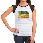 Saskatchewan Flag Women's Cap Sleeve T-Shirt