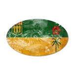 Saskatchewan Flag 22x14 Oval Wall Peel