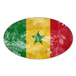 Senegal Flag Sticker (Oval)