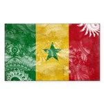 Senegal Flag Sticker (Rectangle)