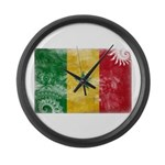 Senegal Flag Large Wall Clock