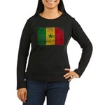 Senegal Flag Women's Long Sleeve Dark T-Shirt