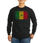 Senegal Flag Long Sleeve Dark T-Shirt