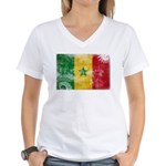 Senegal Flag Women's V-Neck T-Shirt