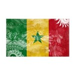 Senegal Flag 38.5 x 24.5 Wall Peel