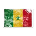 Senegal Flag Car Magnet 20 x 12