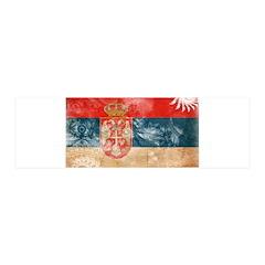 Serbia Flag 42x14 Wall Peel