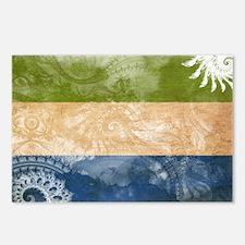 Sierra Leone Flag Postcards (Package of 8)