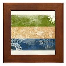 Sierra Leone Flag Framed Tile